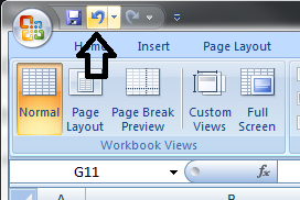 Where Is The Undo Button In Excel 2007?